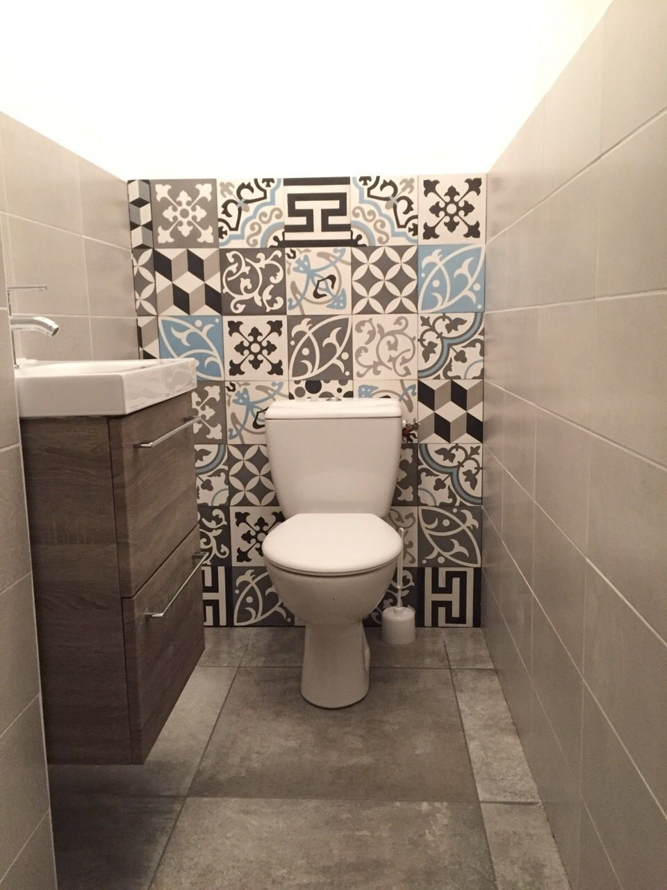 Wc Carreaux De Ciment Amenagement Toilettes Deco Toilettes