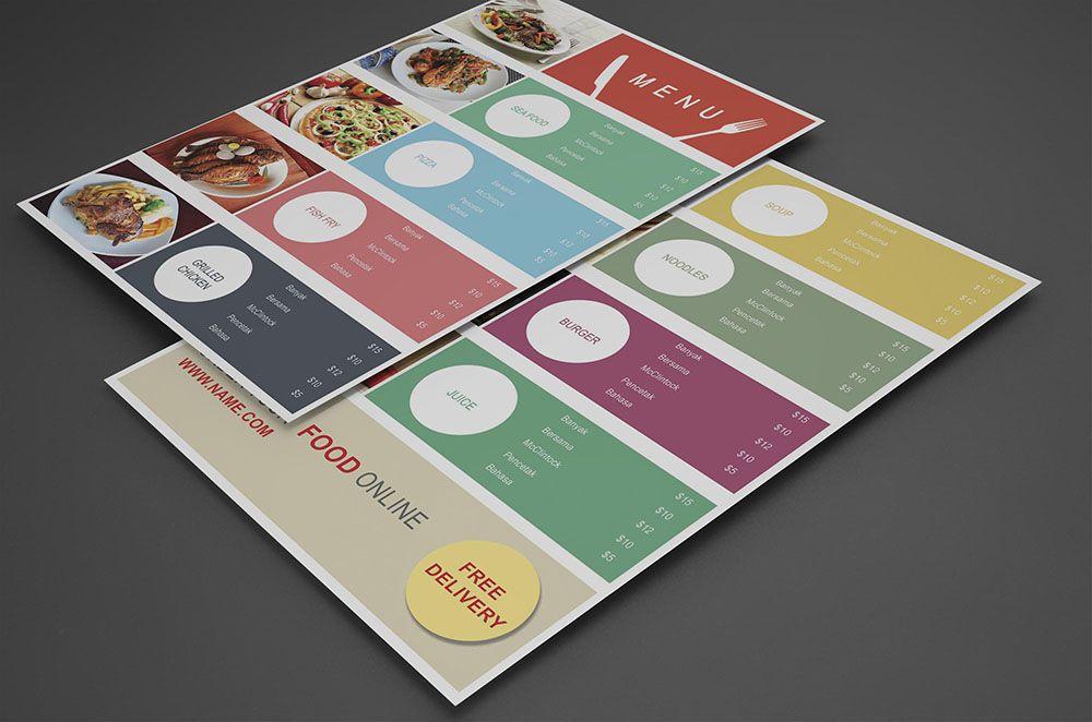 Food Court Menu design psd Ahmed Pinterest Restaurant menu - free food menu template