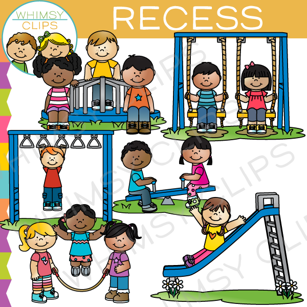 Kids Recess Clip Art  Clip Art, Playground Pictures -9019