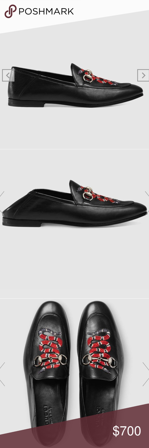 e839ad4e Gucci Leather Loaf with Kingsnake fits 9.5 10 The Kingsnake emerges as one  of Alessandro Michele's signature details, adding an eclectic and  unexpected ...
