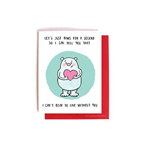 Bear Puns    Funny Valentineu0027s Day Card / Anniversary Love Card