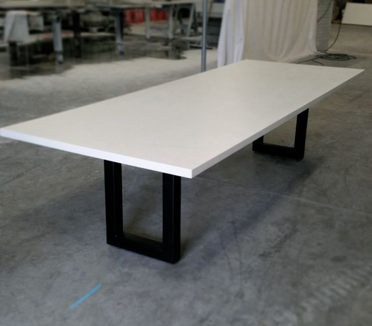 Clean And White Concrete Table With Style Concrete Dining