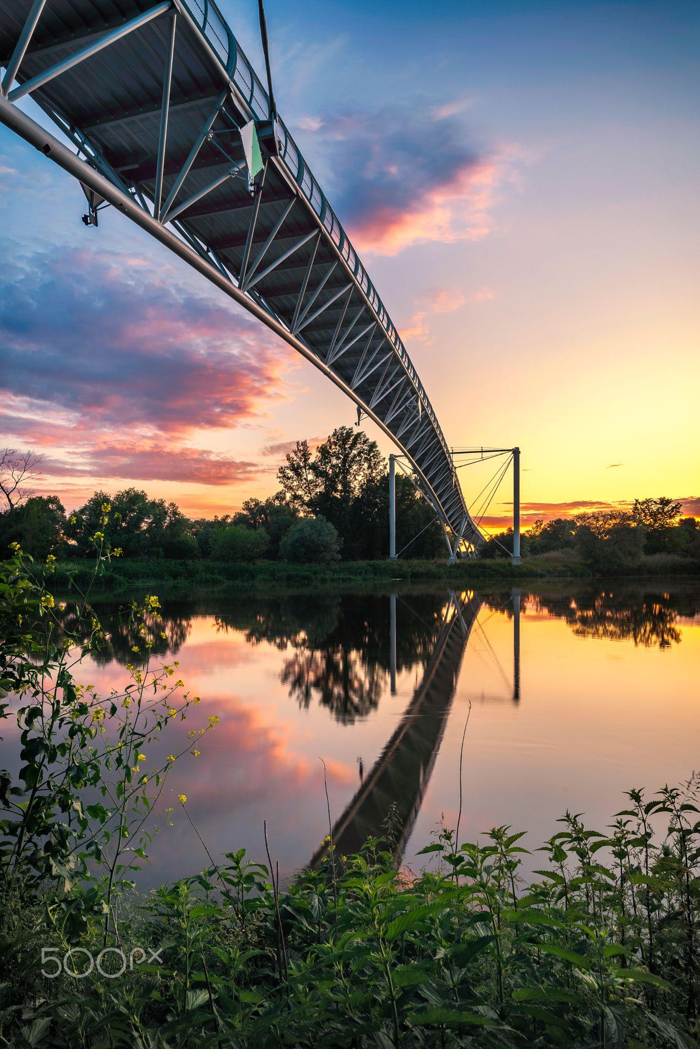 "Chuck Norris Bridge in sunset III - ""Cycling Bridge of ..."