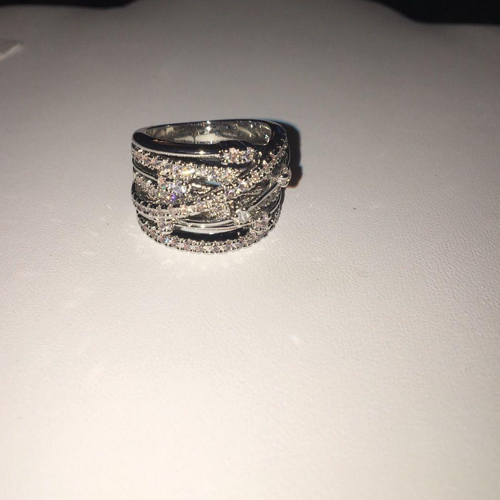 Crystal Row Ring
