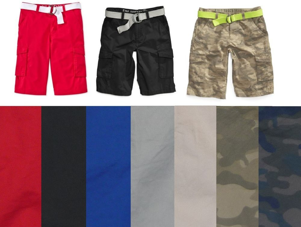 Epic threads boys cargo shorts belted cotton size new also rh pinterest