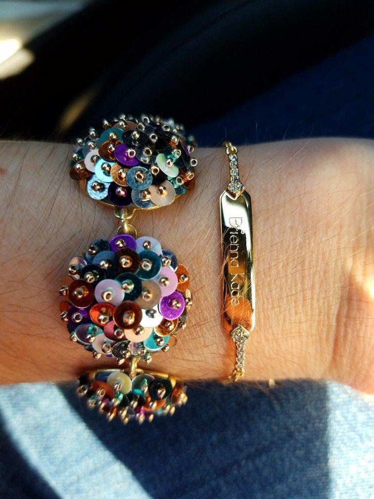 c2d18e58a5a43 Confetti Bracelet & Engraved bracelet #style #stylist #nye #jewelry ...