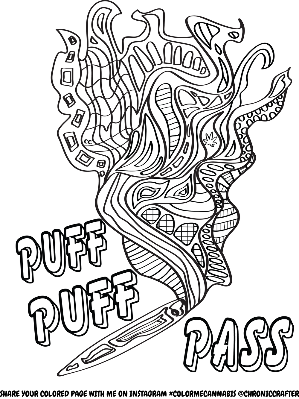 Free Stoner Coloring Page from Chronic Crafter | Free ...