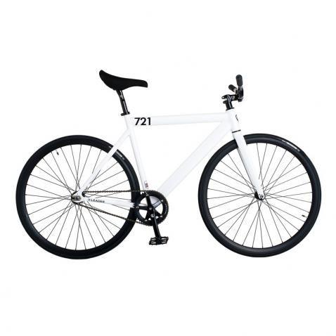 Leader Bike 721 Singlespeed Fixed Gear Komplettrad Weiss Bei Bmo