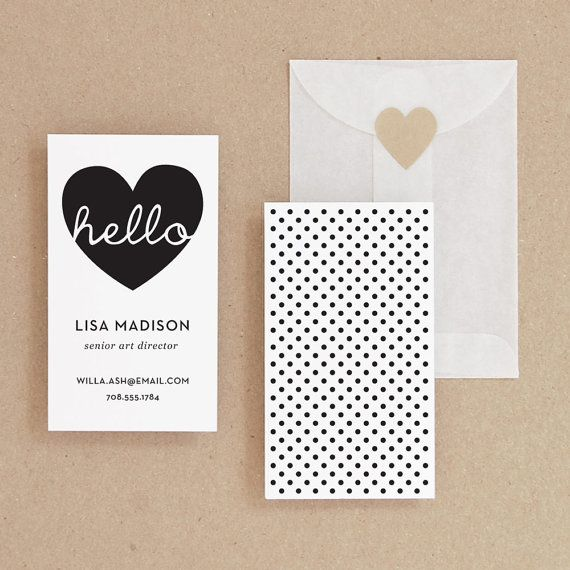 Instant download hello diy printable business card i like instant download hello diy printable business card reheart Images