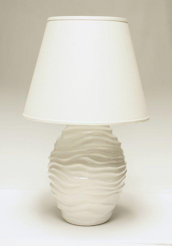 View The Haeger Potteries 229 08 Wave Ceramic 1 Light Table Lamp At Build Com Light Table Table Lamp Lamp