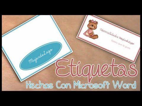 Como hacer etiquetas para bolsitas con microsoft word 2007 mis como hacer etiquetas para bolsitas con microsoft word 2007 reheart Gallery