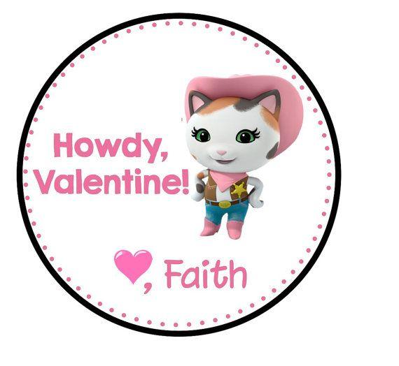 photo relating to Sheriff Callie Printable titled Sheriff Callie Valentine Printable Tags as a result of HappyDotCreatives
