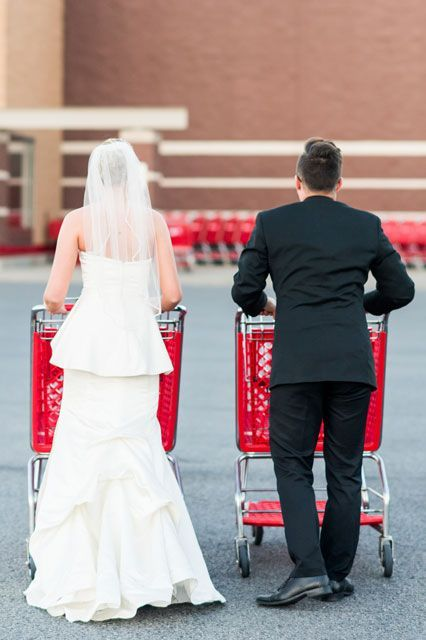 Couple That Gives No F Cks Takes Wedding Photos At Target Anniversary Photoshoot Target Wedding Wedding Photos