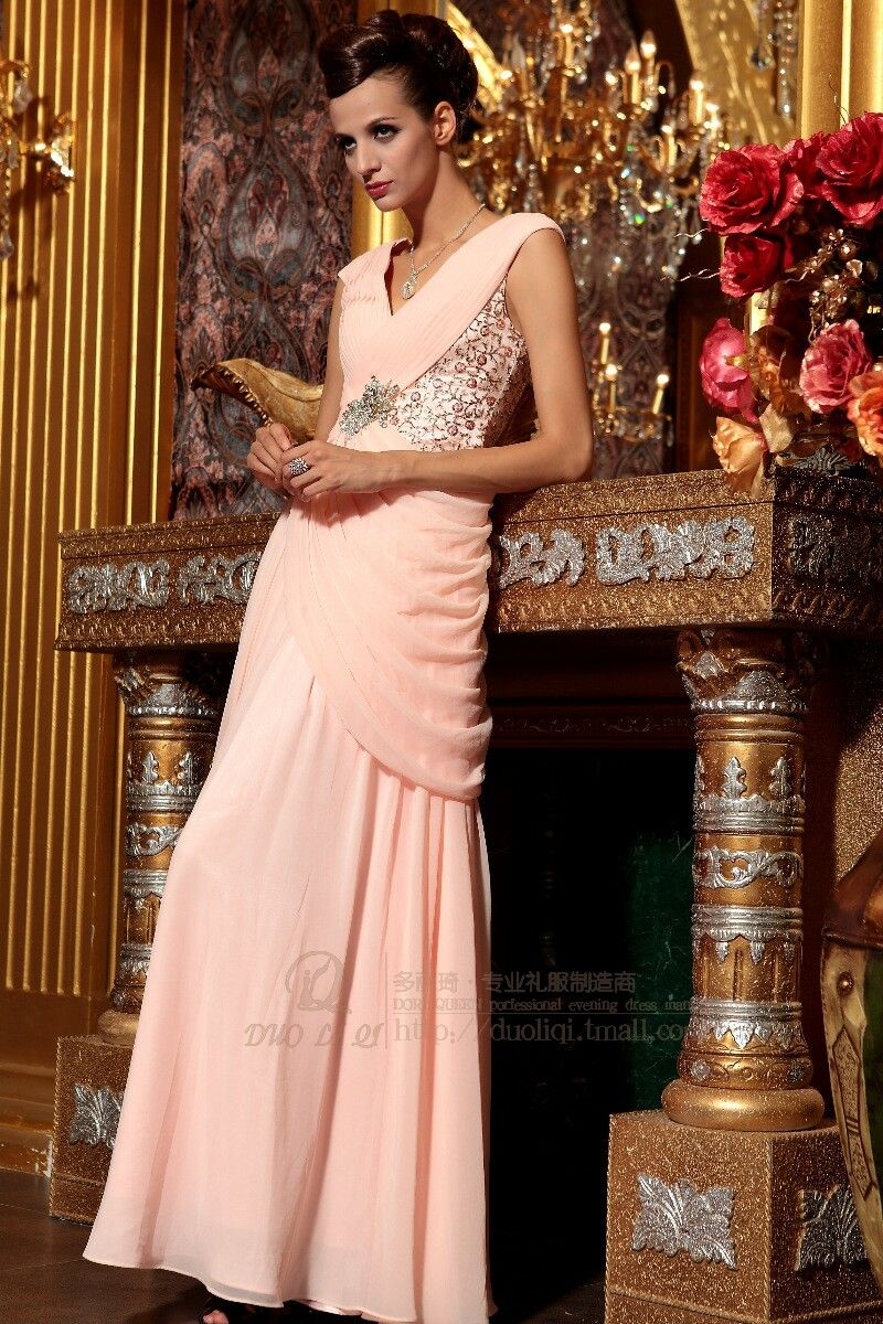 Dorisqueen hot sale light pink prom dresses evening formal dresses