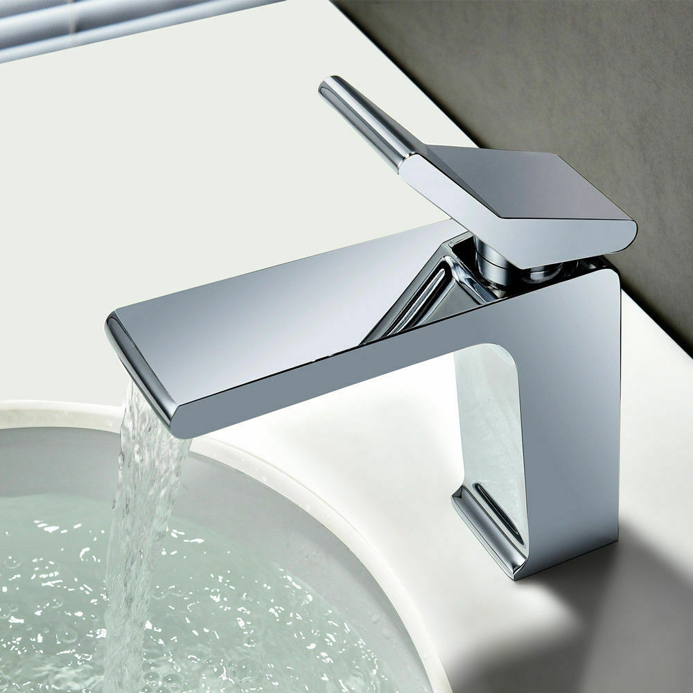 Ultra Contemporary Chrome Waterfall Bathroom Sink Faucet Single Hole Deck Mount Eb Bathroom Sink Faucets Single Hole Bathroom Sink Taps Bathroom Sink Faucets