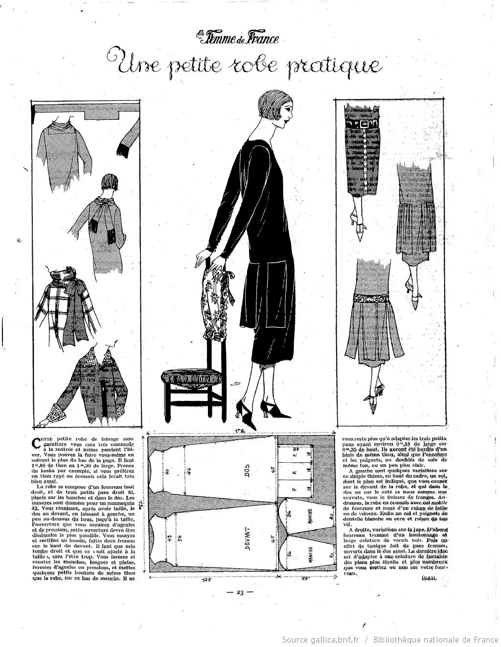 Les Modes de la femme de France | Fragments | Costura, Patrones ...