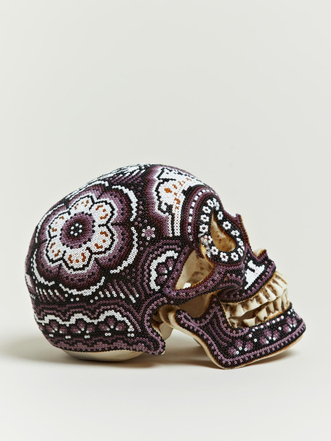 OUR EXQUISITE CORPSE LARGE BEADED COLOURED SKULLS £489 | random ...