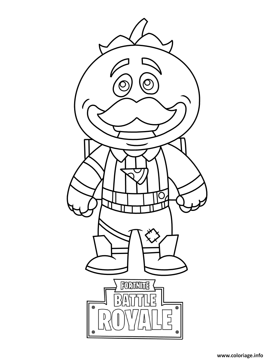 Coloriage A Imprimer Gratuit Fortnite.Coloriage Mini Fortnite Tomatohead A Imprimer Fortnite En