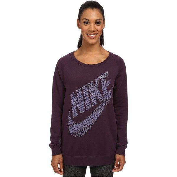 Nike Rally BF Logo Crew Women's Sweatshirt, Purple ($40