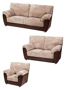 'SOFIA'  3 and 2 and 1 seater sofa set fabric/faux leather. BRAND NEW.     * Fast delievery.  * Available in Burgundy, Brown, and Green.  DIMENSIONS     3 seater  Width  175 cm. Depth   80 cm Height   95 cm.    2 seater  Width  140 cm. Depth   80 cm Height   95 cm.    1 seater Width  88 cm.  Depth   90 cm Height   95 cm. £499 www.adamz-furniture.com www.adams-furniture.co.uk