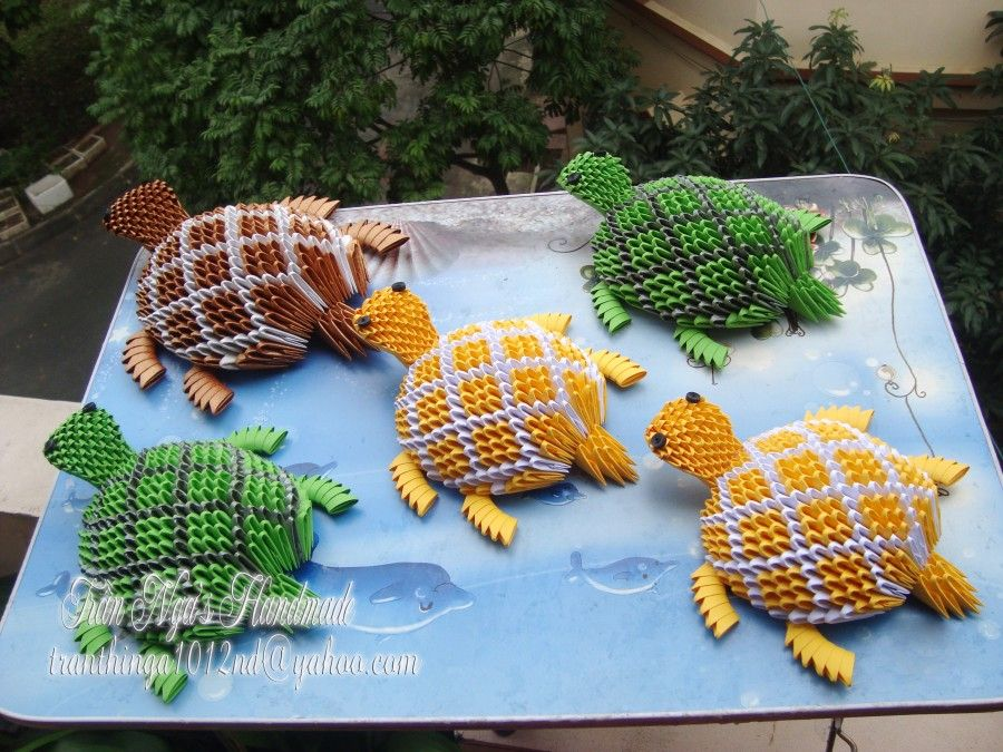 3d origami turtle album nga 3d origami art tortugas pinte. Black Bedroom Furniture Sets. Home Design Ideas