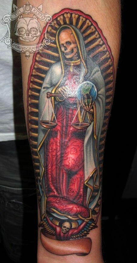 Muerte virgen | tattoos | Pinterest | Santa muerte, Tattoo and Tatting