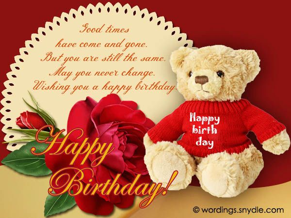 Best 101 Happy Birthday Wishes, Messages and Greetings | Wordings ...