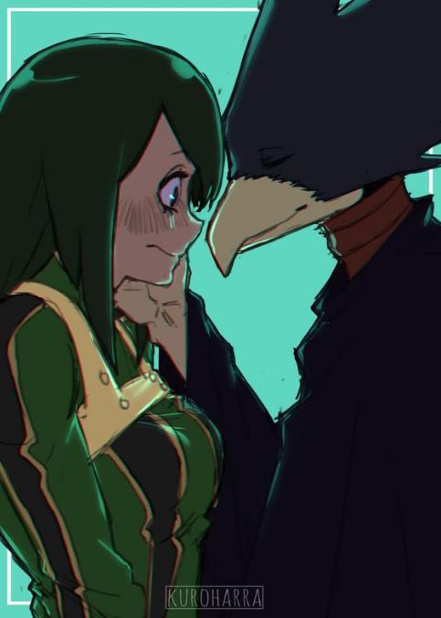 My Hero Academia - Tokoyami Fumikage x Asui Tsuyu | Anime/manga