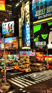 Go to Broadway, NYC- see a musical/show