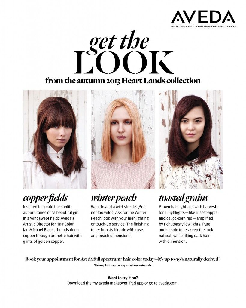 Fall hair and makeup aveda theheartlandscollection hair