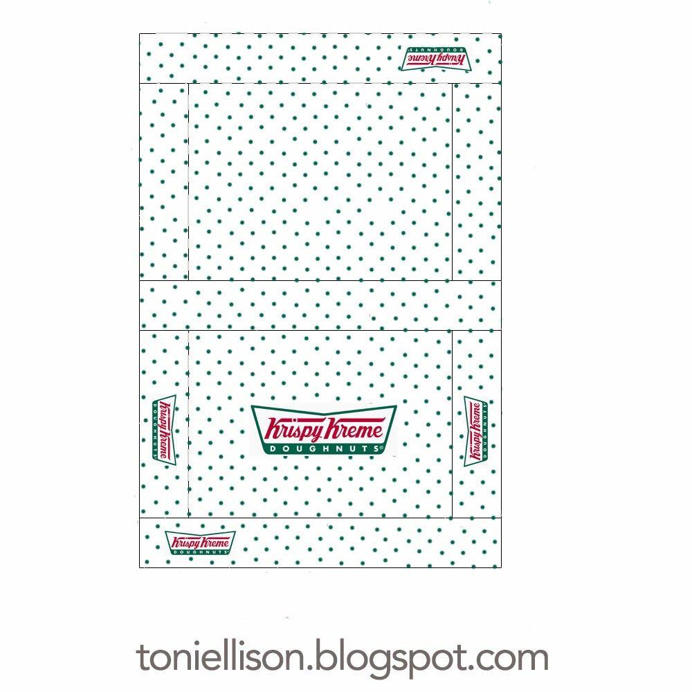 Toni Ellison Donut Box Printable Krispy Kreme Paper Toys Template
