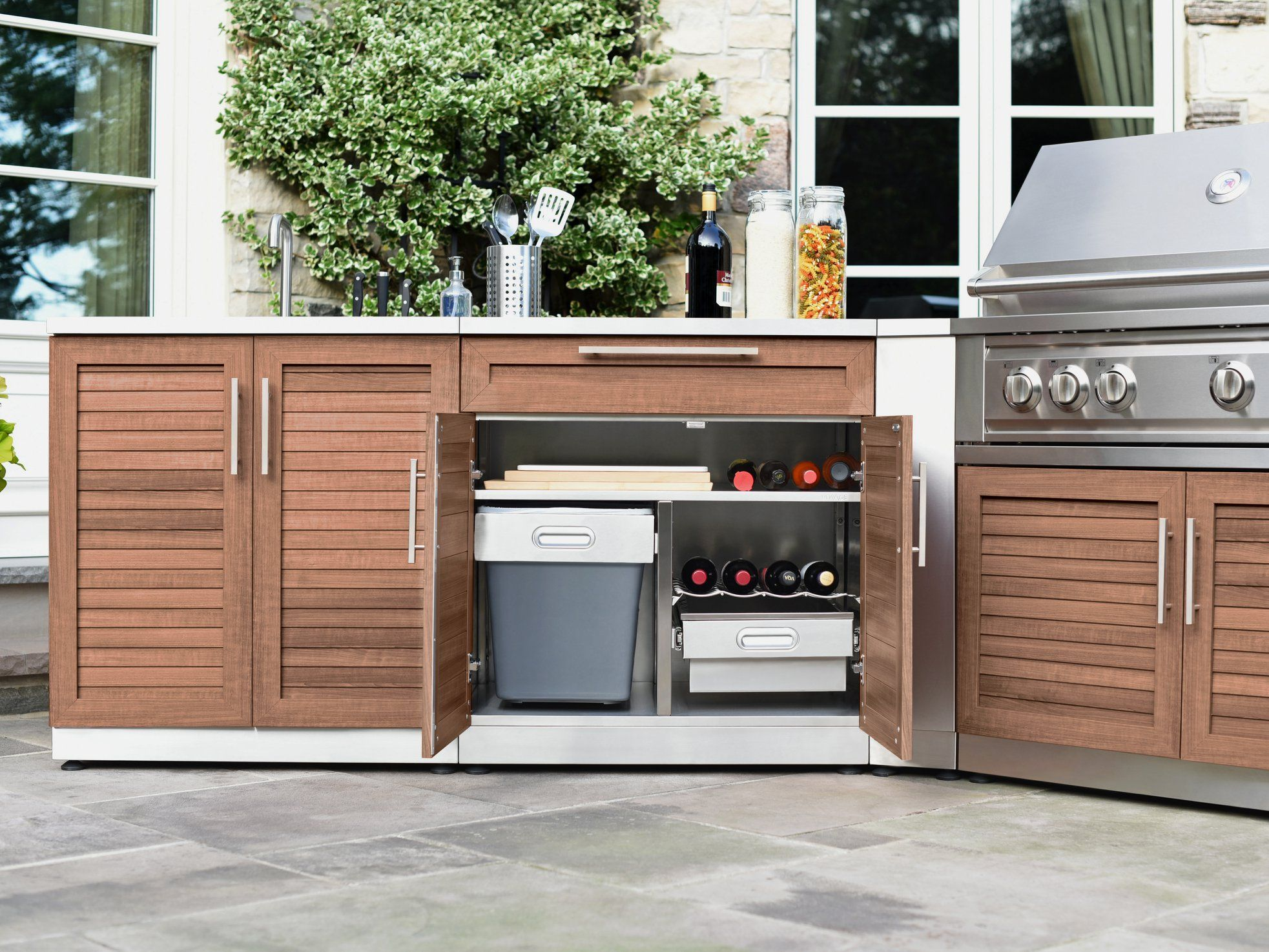 Newage Products Outdoor Kitchen Stainless Steel Series Outdoor Kitchen Outdoor Cabinet Modern Kitchen Cabinets