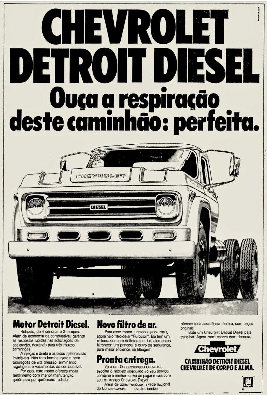 Anuncio Caminhao Chevrolet Detroit Diesel 1977 Carros E