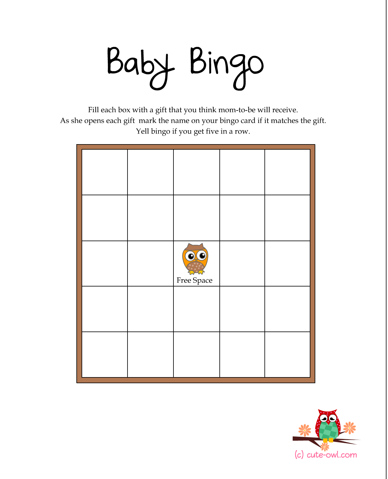 Free Printable Owl Themed Baby Shower Games Woodland Animal Themed