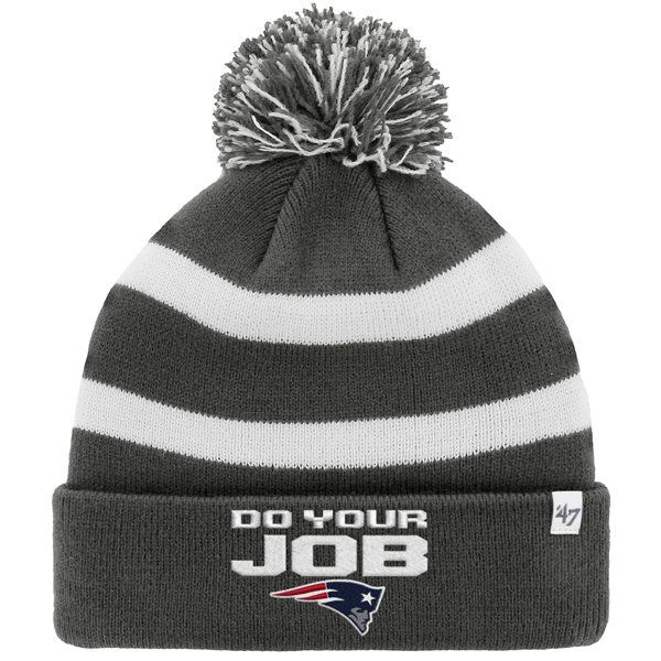 b95ab066 Do Your Job Knit Hat-Charcoal/White | Patriots ProShop | College ...