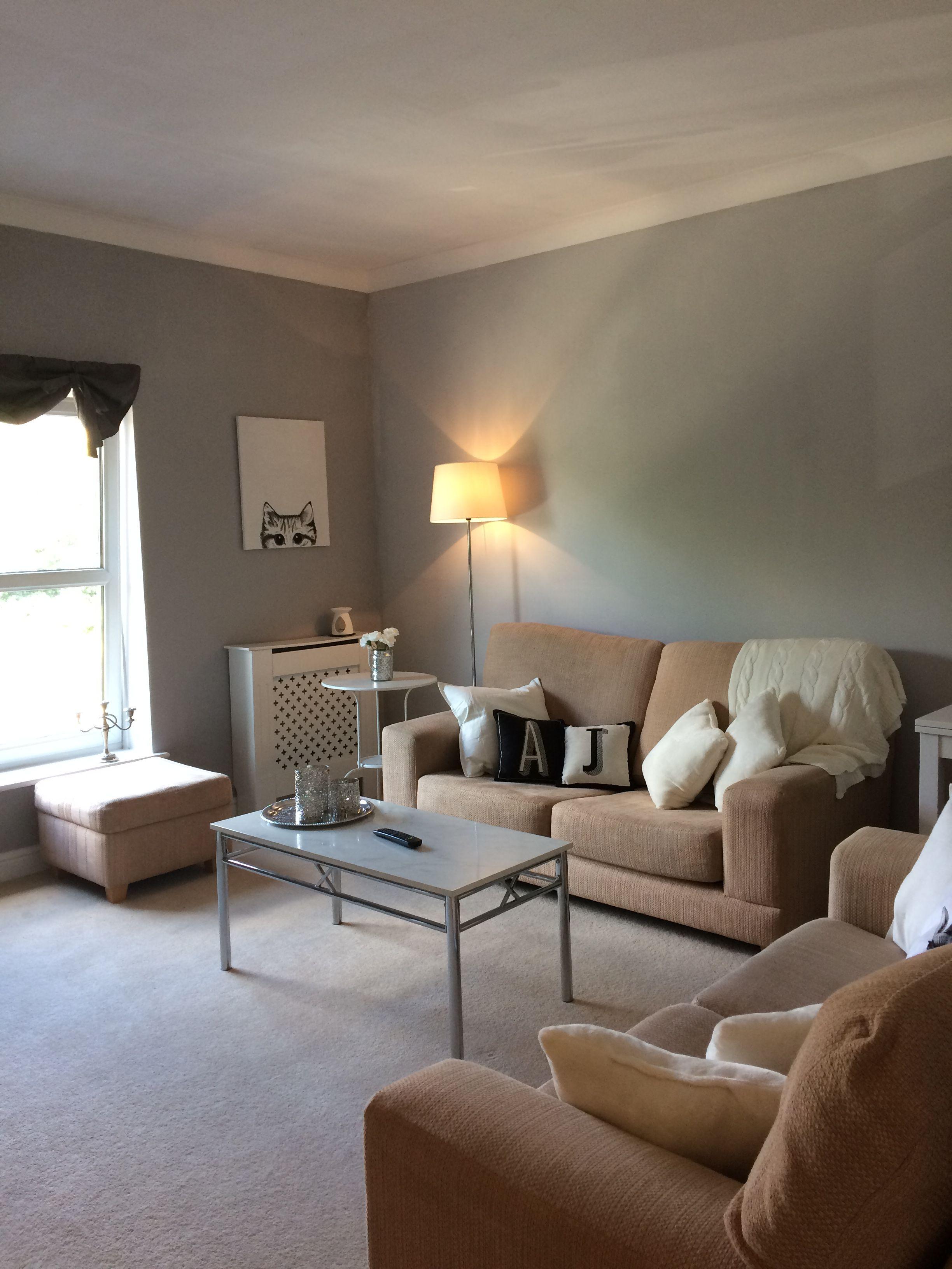 Grey Peach living room   Peach living rooms, Home decor ...