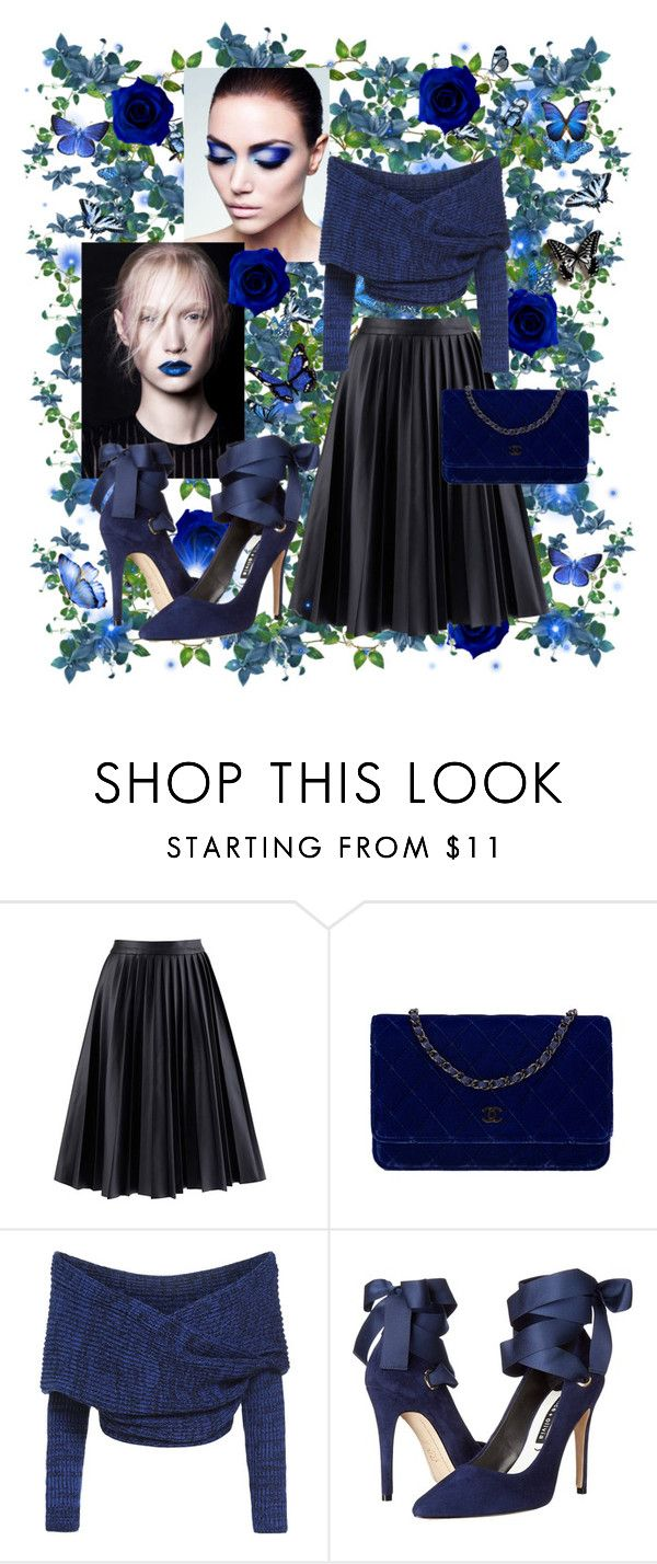 """Perfect Party Dress"" by farrahdyna ❤ liked on Polyvore featuring Chanel, Alice + Olivia, Vale and partydress"