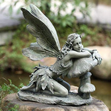 Resin Garden Statues Enhance Your Garden With A Variety Of Garden Statues Sculptures And Furniture In 2020 Fairy Statues Fairy Garden Garden Statues