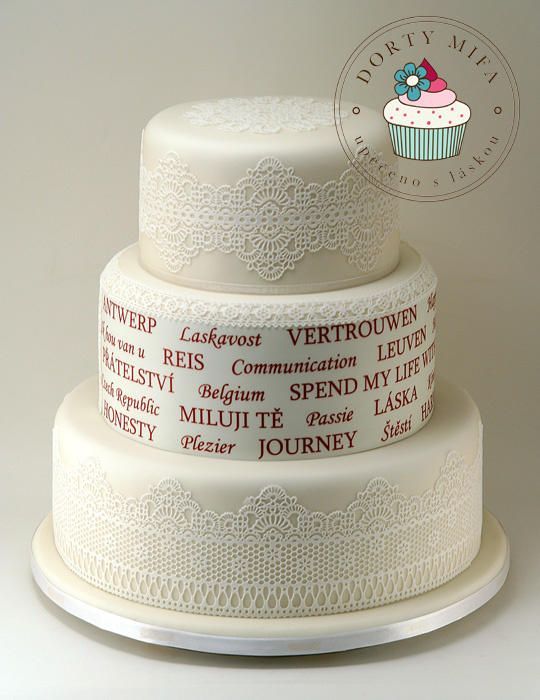 Czech-Belgium Wedding Cake