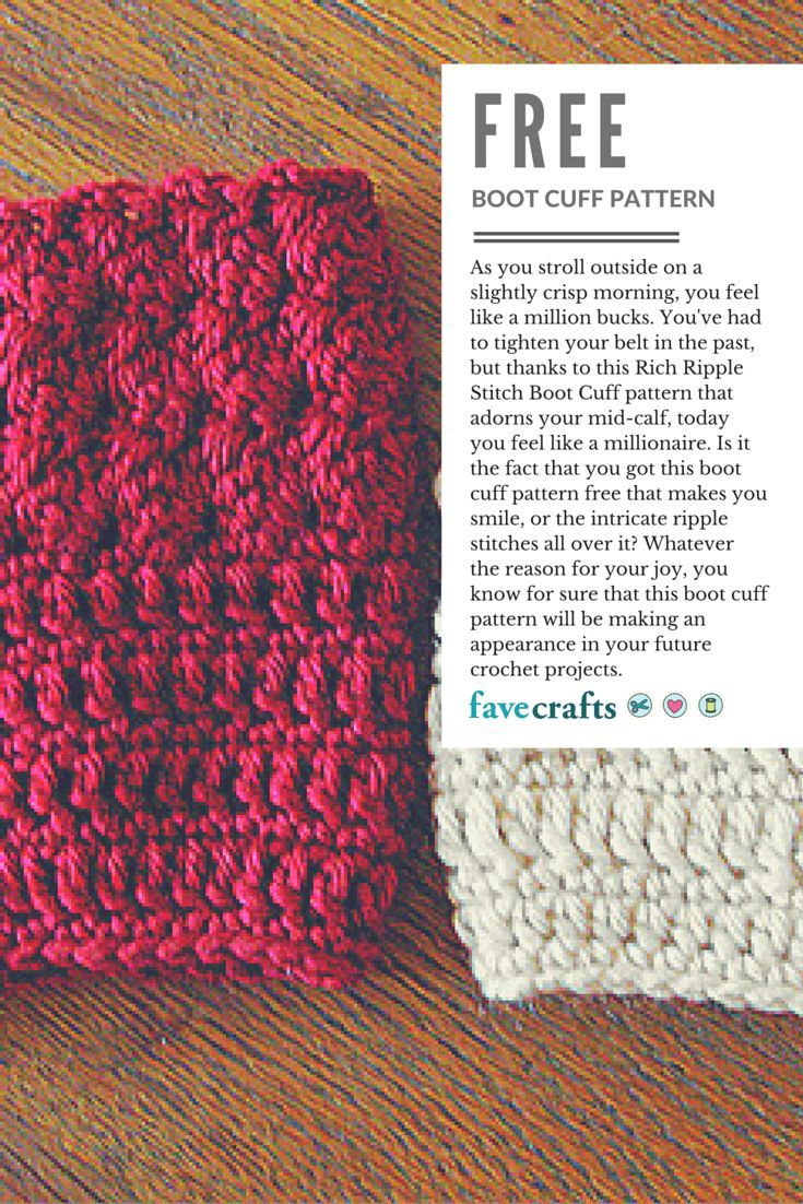 Exelent Crochet Boot Cuff Patterns Free Motif - Blanket Knitting ...