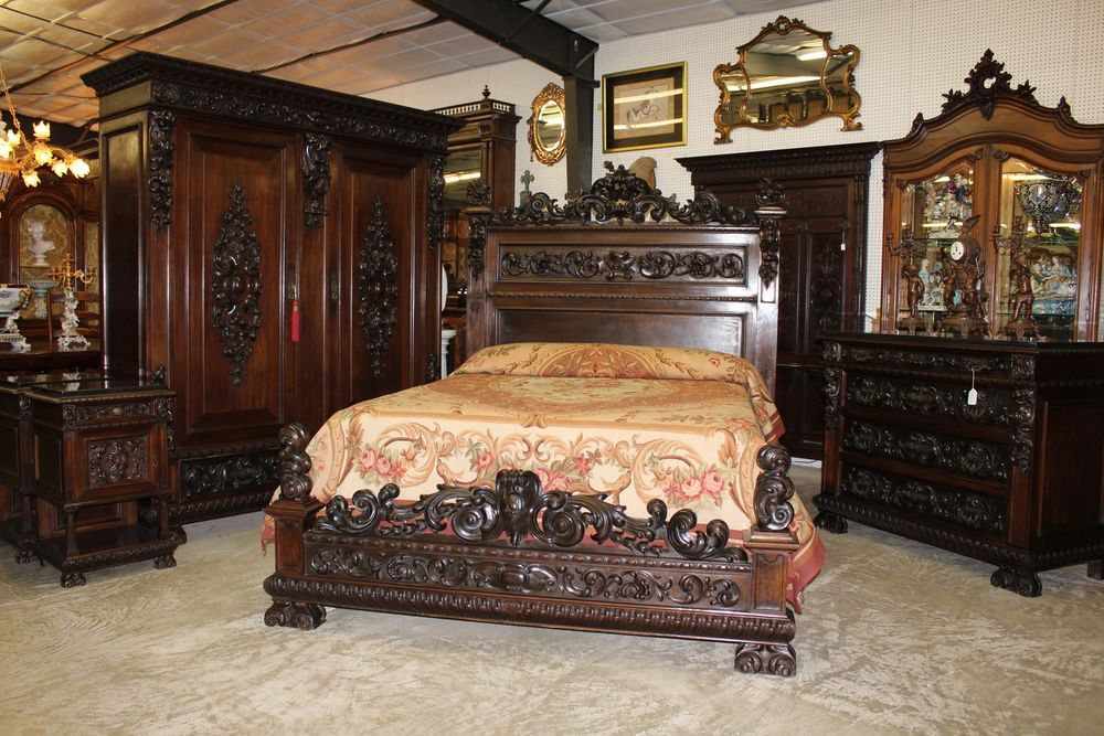 Details about Antique Carved Italian Walnut 1800\'s Five ...