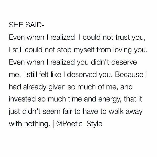 Image result for she said even when i realized i couldn't trust you