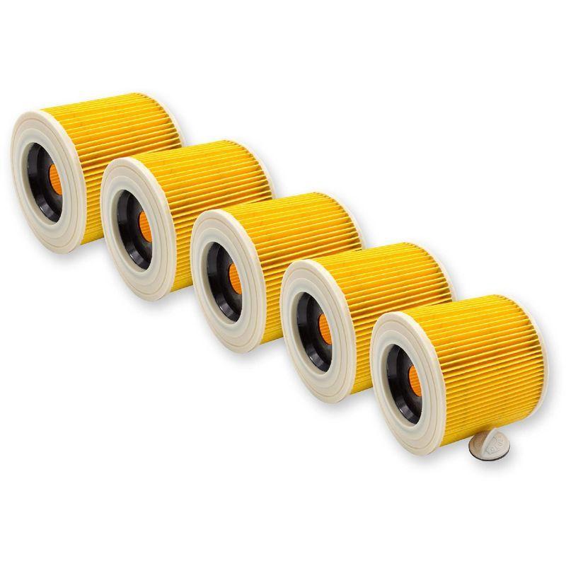 A 2674 PT Plus A 2554 ME vhbw 5x Cartouches filtrante pour aspirateur K/ärcher A 2504 A 2524 PT A 2675 Jubilee A 2676 X PT Plus A 3100 A 2574 PT