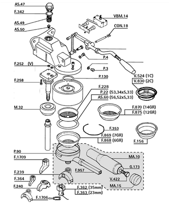 parts of espresso machine