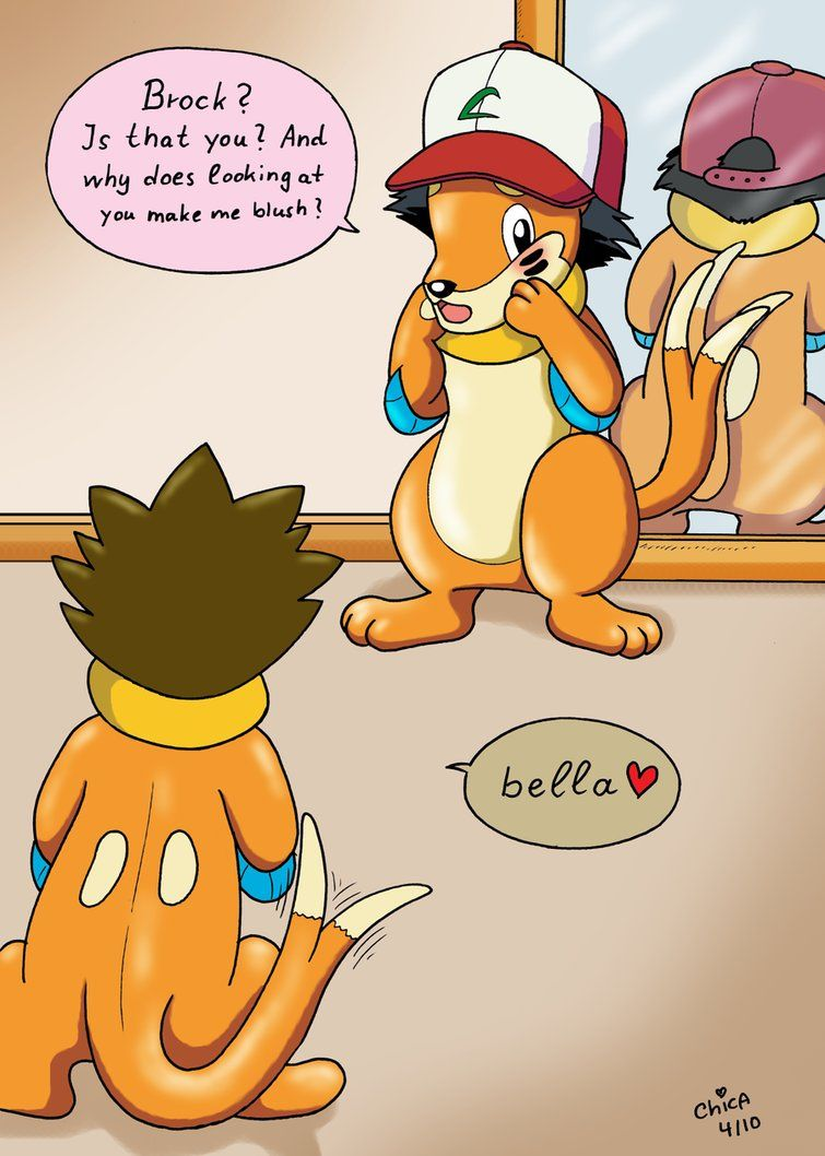 Ash Tf Into Pokemon Brock S Buizel Bella By Rustyraccoon On