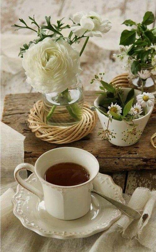среде открытки утро чай кофе цветы публикации про