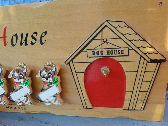 Vintage Dog House Wall Plaque Personalized By Raspberryrobin