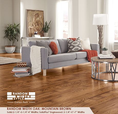 The Golden Hues Of This Brown Wood Floor Are A Beautiful Contrast For White Walls Oak Floor Living Room Dark Hardwood Floors Living Room Grey Walls Living Room