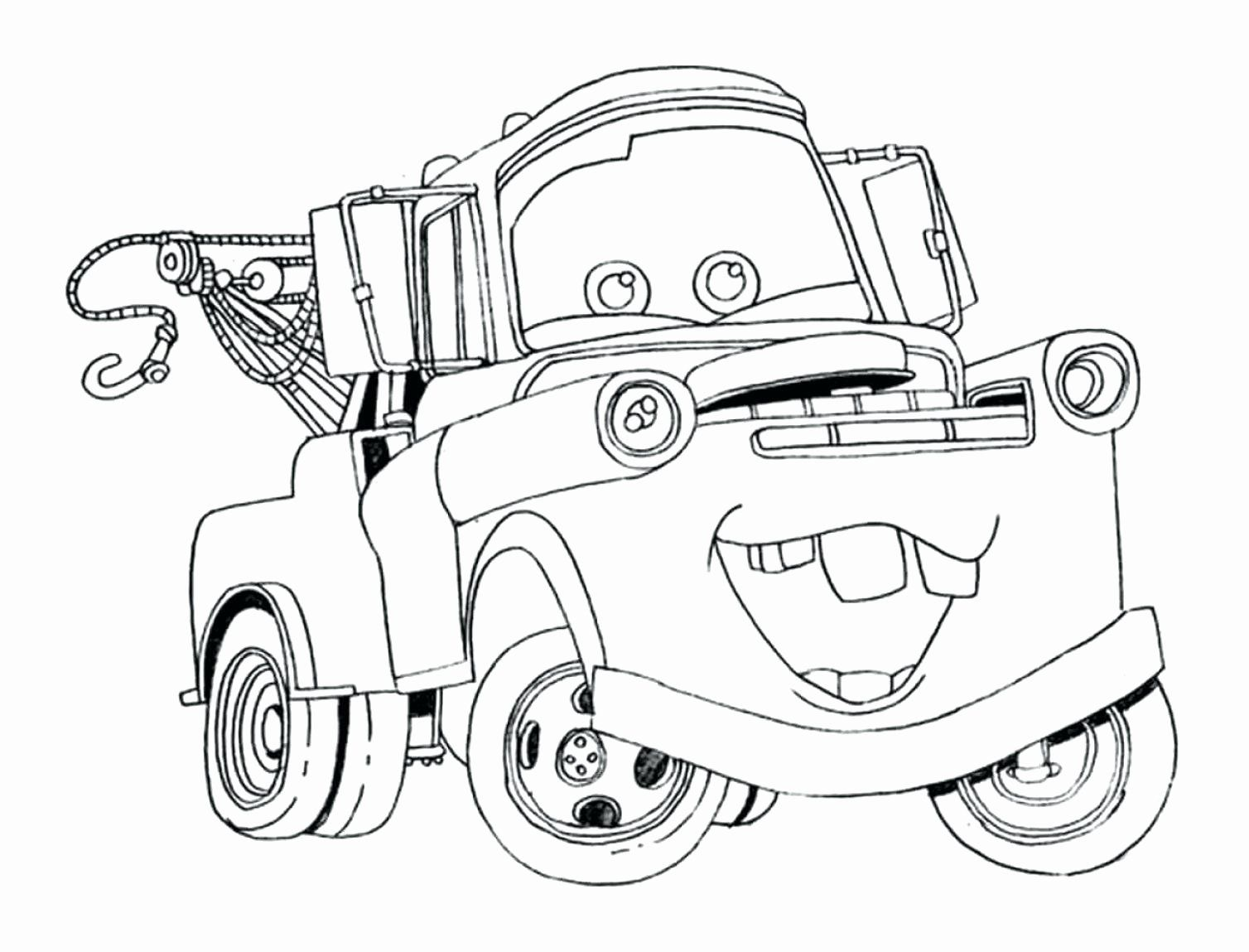 Lightning Mcqueen Printable Coloring Pages Unique Coloring Free Printable Tow Mater Colori In 2020 Disney Coloring Pages Free Disney Coloring Pages Cars Coloring Pages