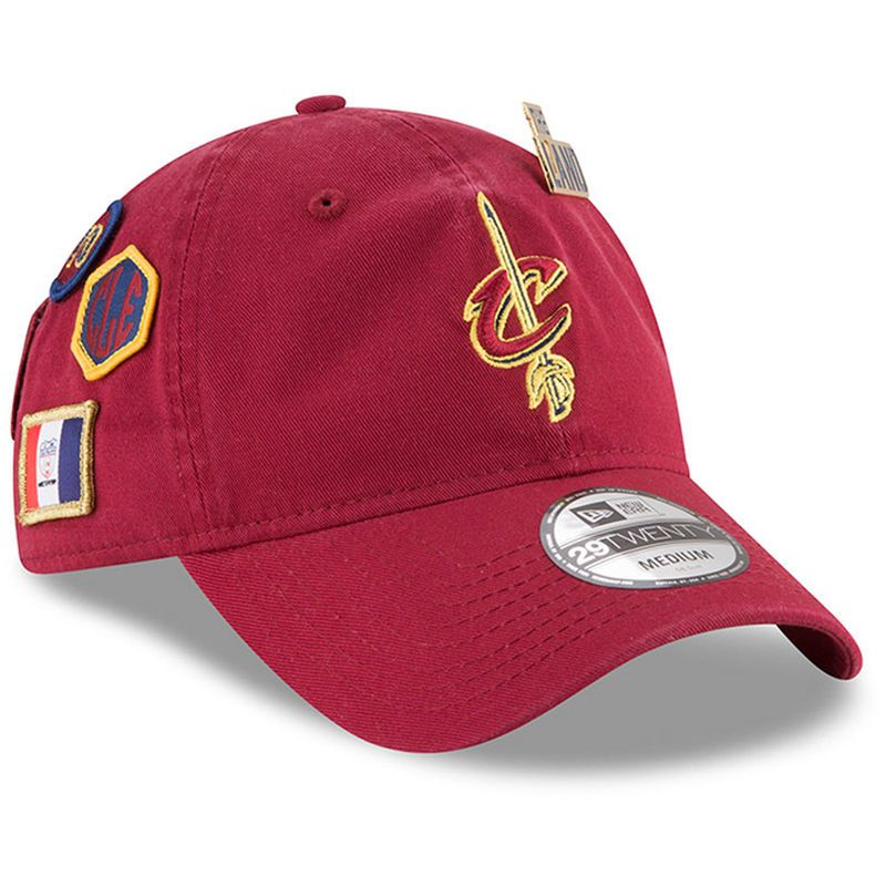 Cleveland Cavaliers New Era Draft 29TWENTY Fitted Hat – Wine ... 922673b8514a